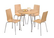 Owl Round Table & Chairs [Maple, Black, White]